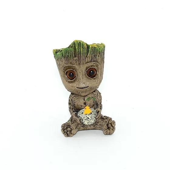 Enfeite Ornamental para Aquário Baby Groot Ninho
