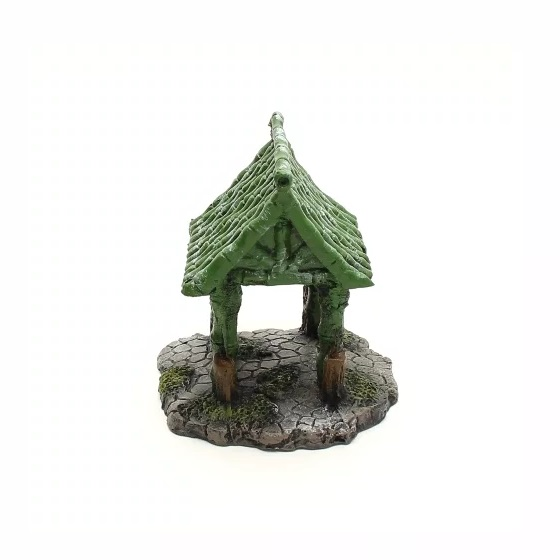 Enfeite Ornamental para Aquário Cabana de Bamboo
