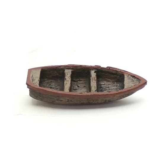 Enfeite Ornamental para Aquário Canoa