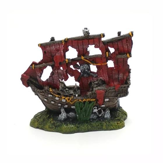 Enfeite Ornamental para Aquário Caravela Pirata