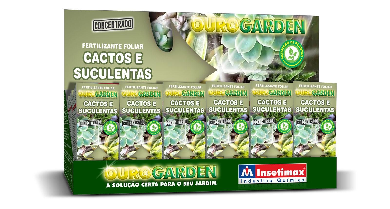 Fertilizante Liquido Ouro Garden Cactos e Suculentos 100ml