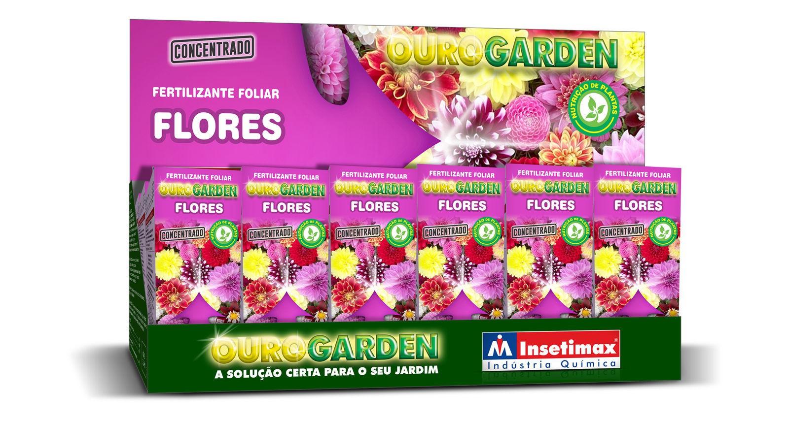 Fertilizante Liquido Ouro Garden Flores 100ml