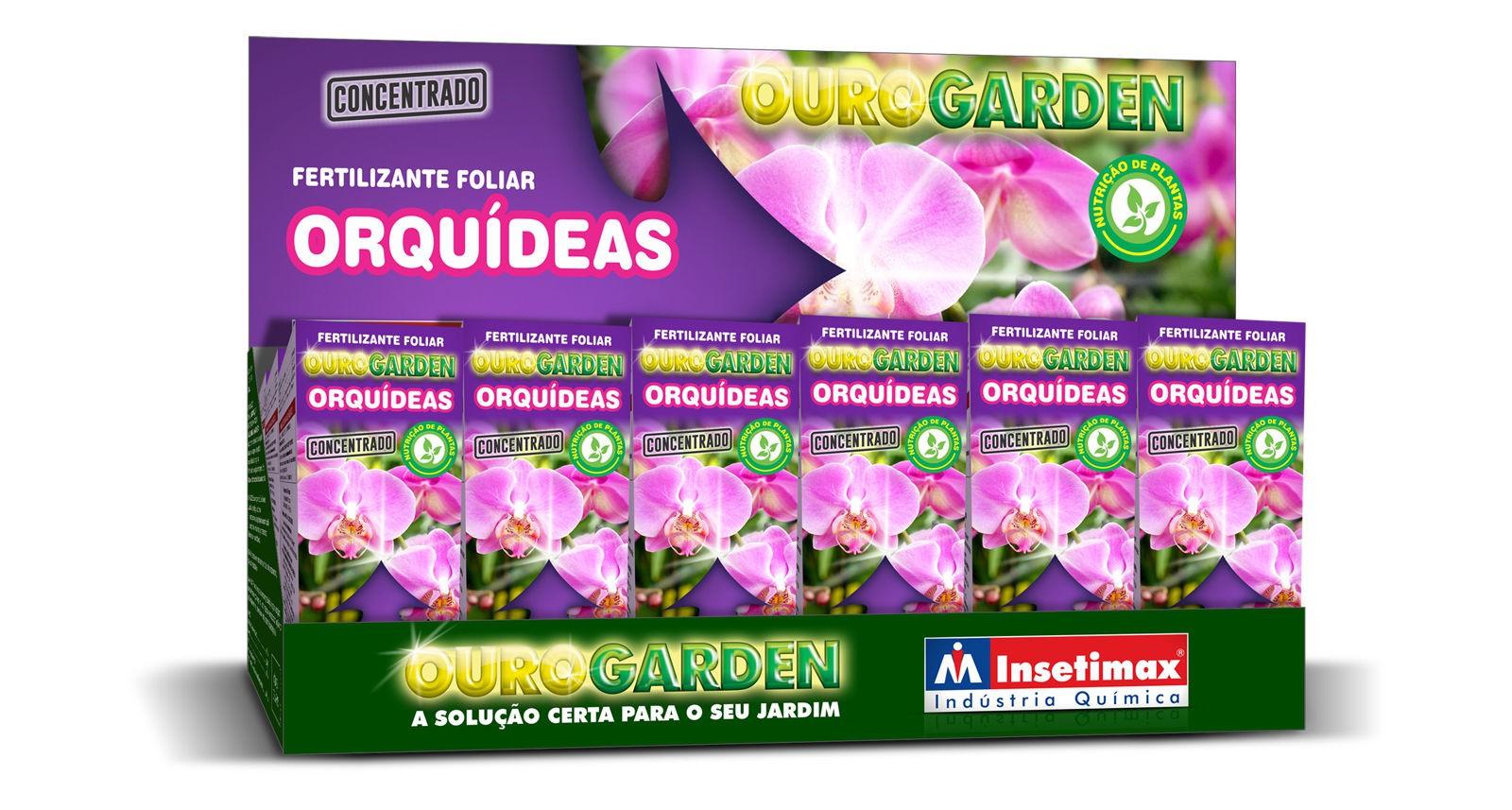 Fertilizante Liquido Ouro Garden Orquídeas Concentrado 100ml
