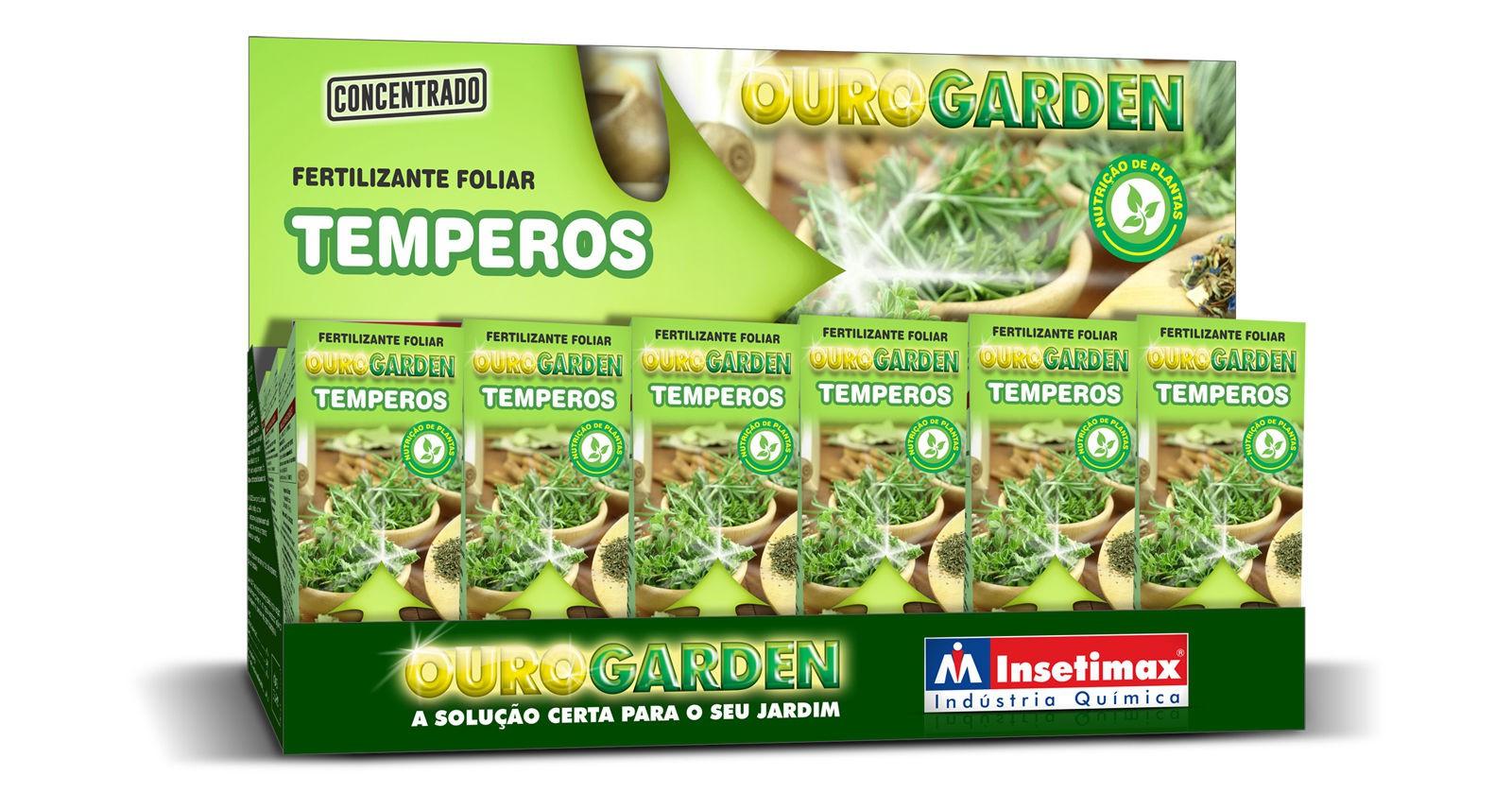 Fertilizante Liquido Ouro Garden Temperos 100ml