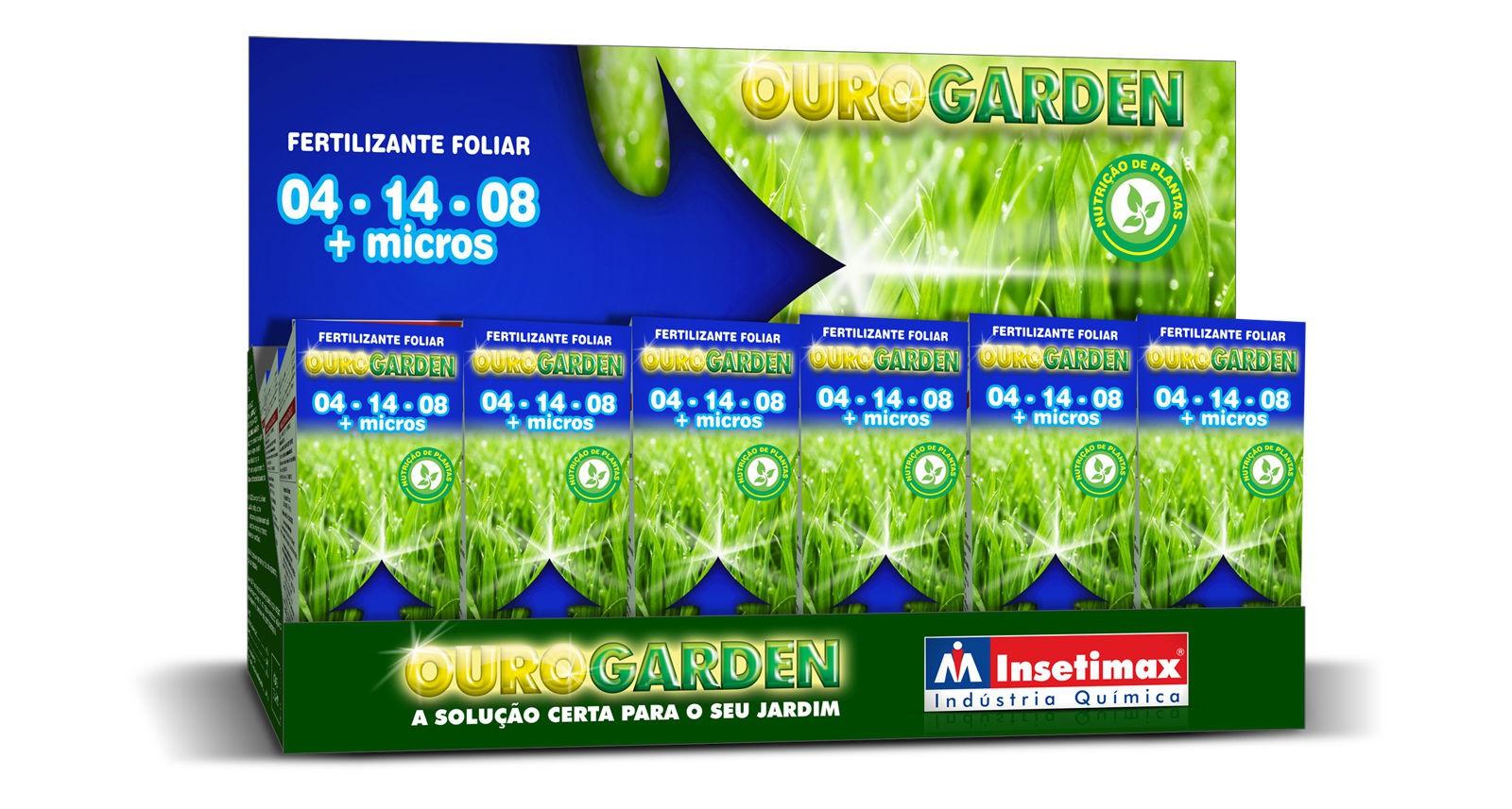 Fertilizante Ouro Garden 04-14-08 + Micros 100ml