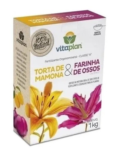 Fertilizante Torta de Mamona & Farinha de Ossos Vitaplan 1kg