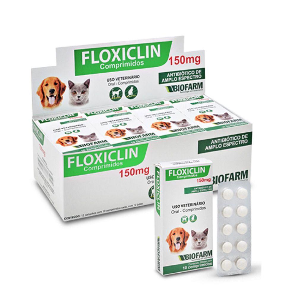 Antibióico Floxiclin Enrofloxacina para Cães Gatos 10 comp