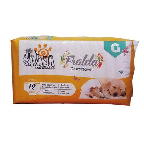Fralda descartável Savana para cães com 12 unidades