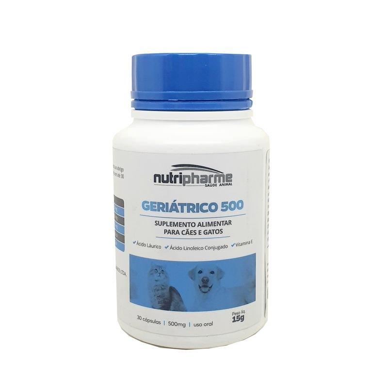 Geriatrico 500 Suplemento Alimentar Nutripharme 30 Cápsulas