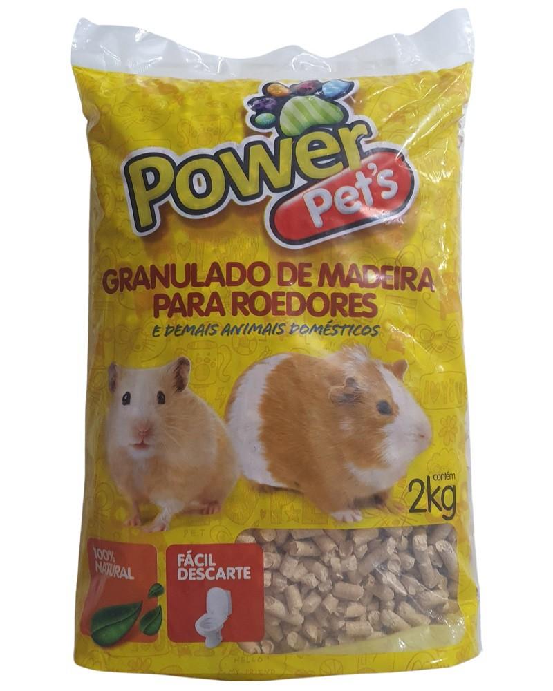 Granulado de Madeira Power Pets para Roedores