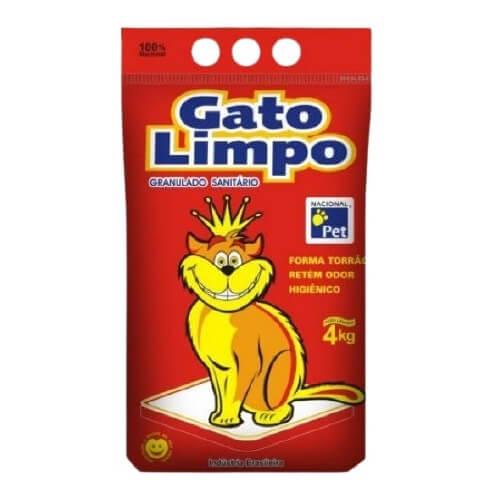 Granulado Sanitário Gato Limpo 4 Kg