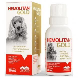 Suplemento Hemolitan Gold Vetnil Cães e Gatos