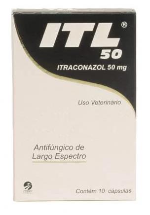 ITL 50 10 comp Cepav Antifúngico oral Cães e Gatos