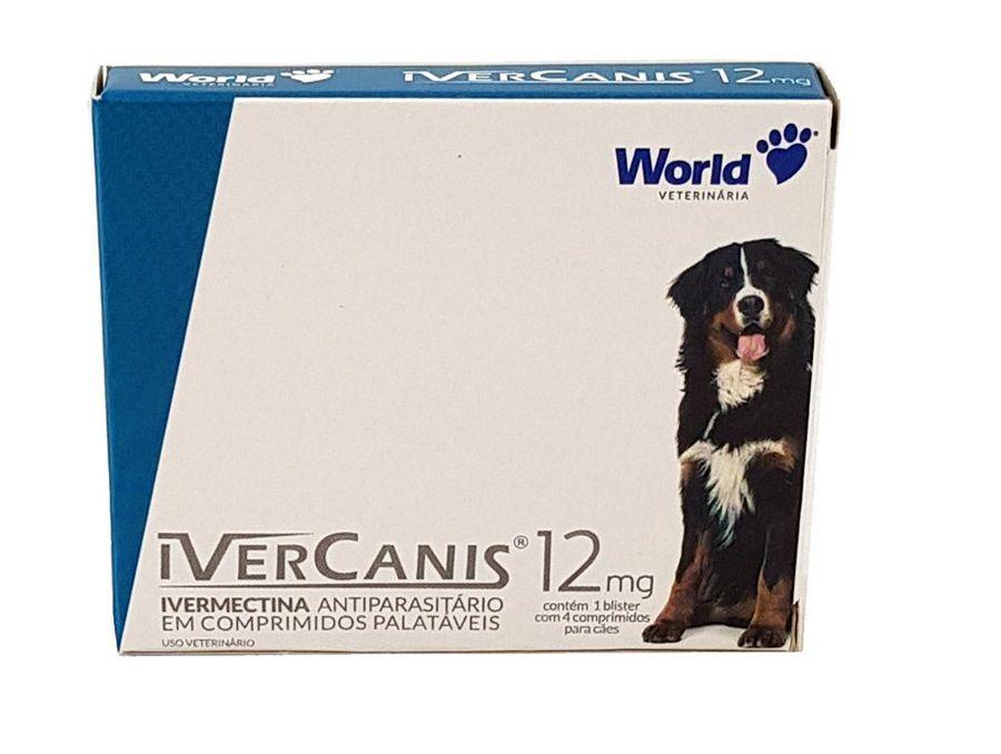 Ivermectina Ivercanis World 12mg 4 Comprimidos