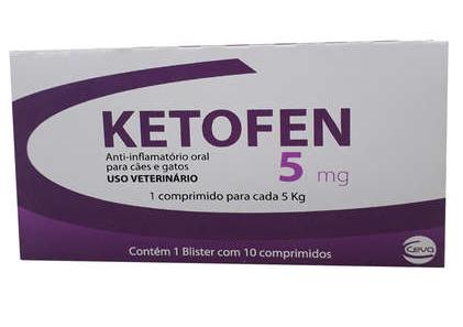 Ketofen Merial Anti-inflamatório 10 Comprimidos 5mg