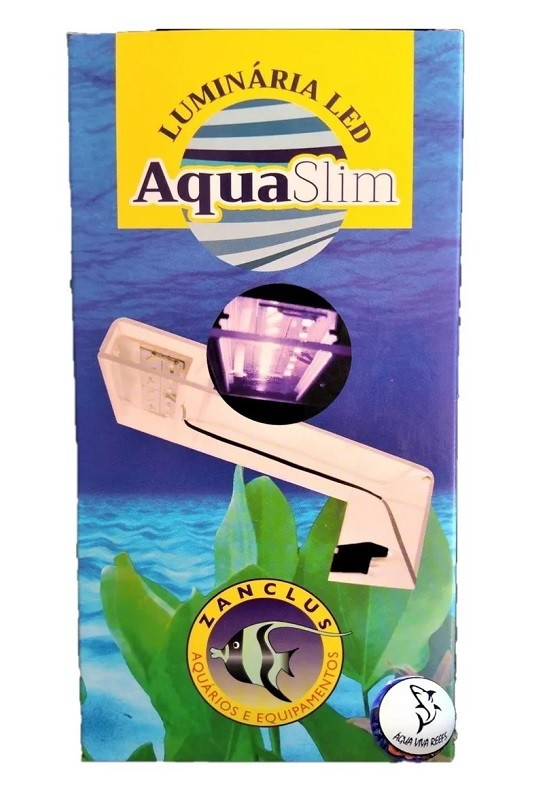 Luminaria Led Aquario - Aqua Slim Bivolt Branca