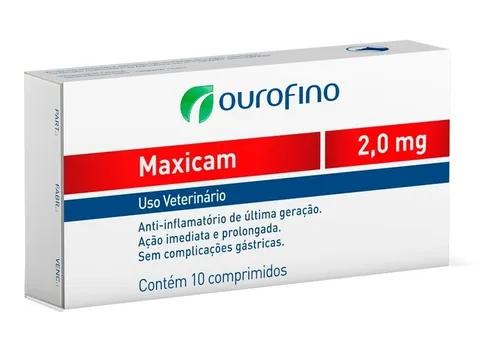 Anti-inflamatório Maxicam 2mg 10 Comprimidos