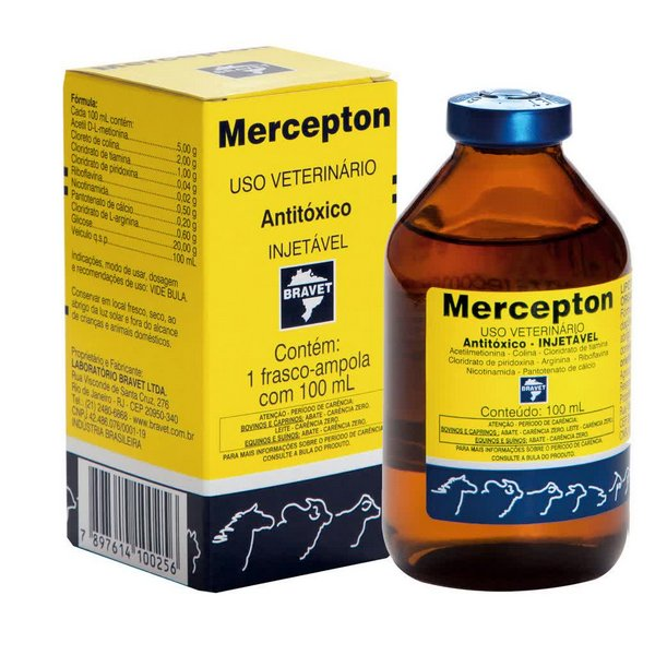 Mercepton Injetável 100ml - Antitóxico