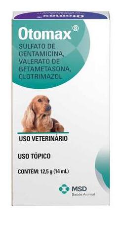 Pomada Otológica Otomax 12,5g MSD para Cães e Gatos
