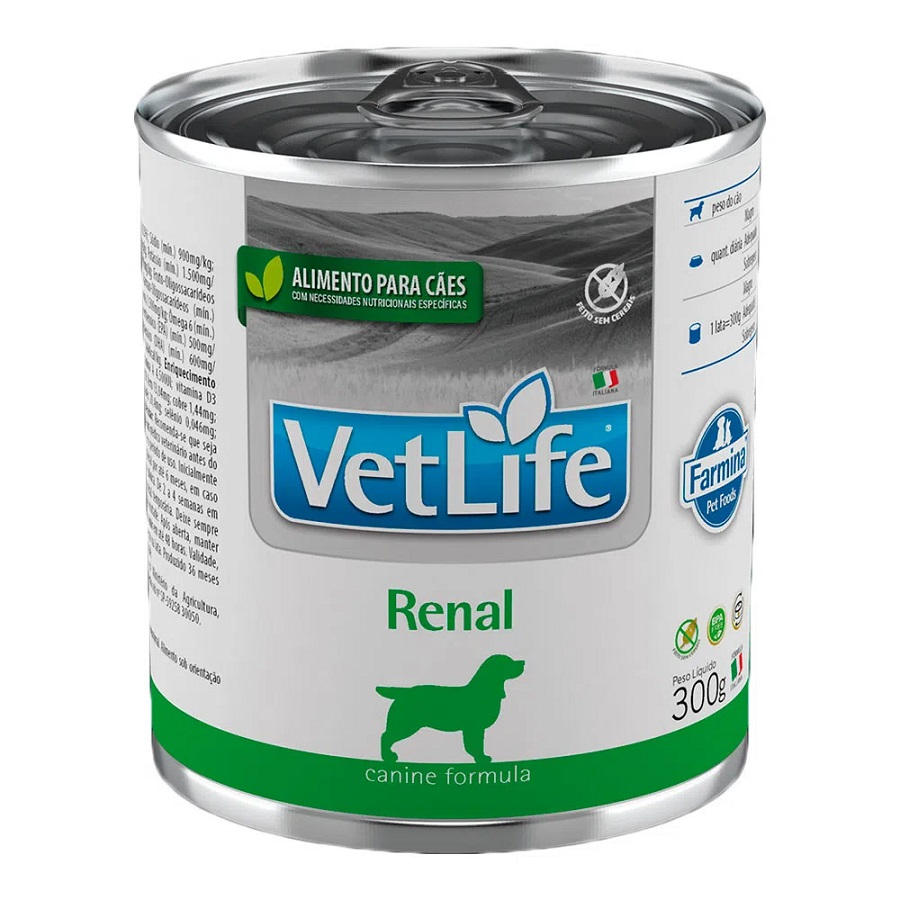 Patê de Ração Úmida Farmina Vet Life Renal para Cães 300g