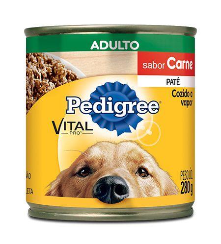Patê de Ração Úmida Pedigree Cães Adultos Sabor Carne 280g