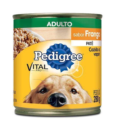 Patê de Ração Úmida Pedigree Cães Adultos Sabor Frango 280g
