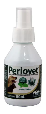 Periovet Spray 100ml Vetnil Higiene Bucal Cães e Gatos