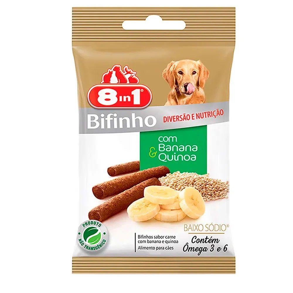Petisco 8in1 Bifinho Carne com Banana e Quinoa 55g