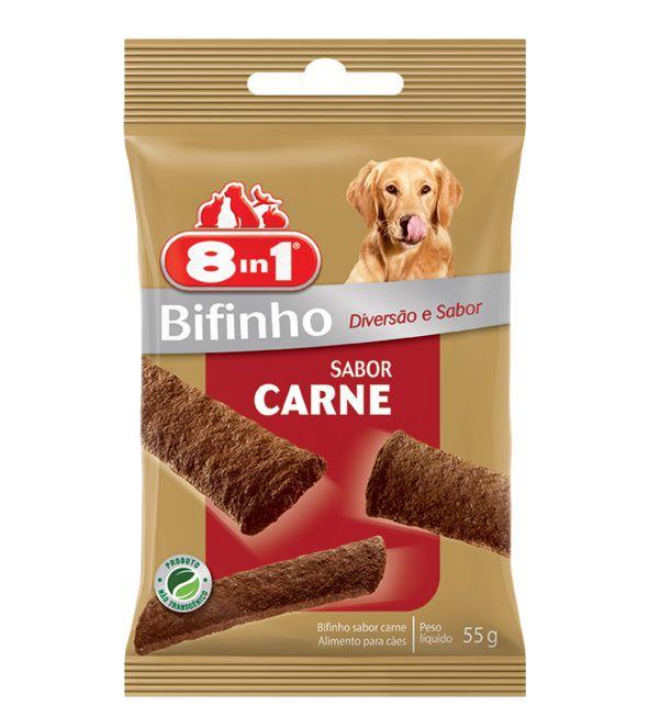 Petisco Snack 8in1 para Cães sabor Carne 55g