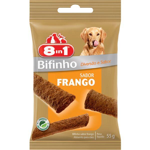 Petisco Snack 8in1 para Cães sabor Frango 55g