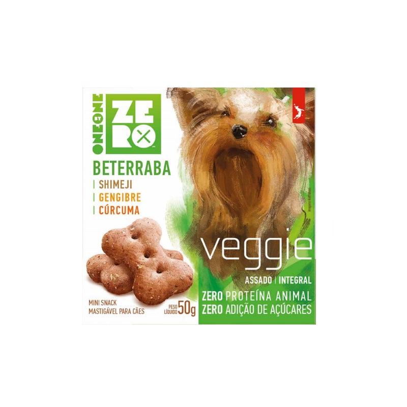 Petisco Snack Mini Zero Veggie Spin Pet Beterraba Shimeji, Gengibre e Cúrcuma 50g