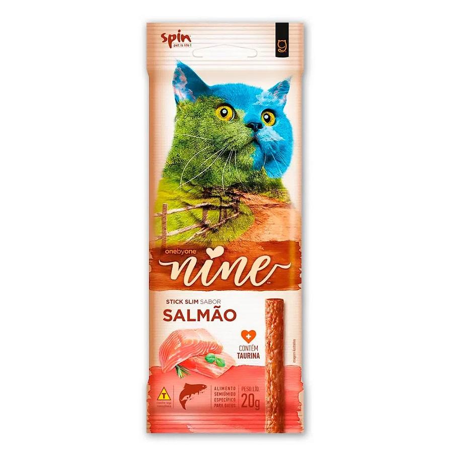 Petisco Stick Nine Cat Spin Pet Salmão 20g