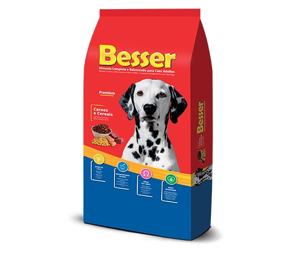 Ração Besser Premium Cães Adultos Carne e Cereais
