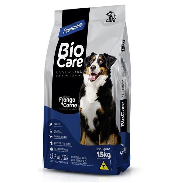 Ração BioCare Premium Essencial Cães Adultos Todas as Raças Frango e Carne