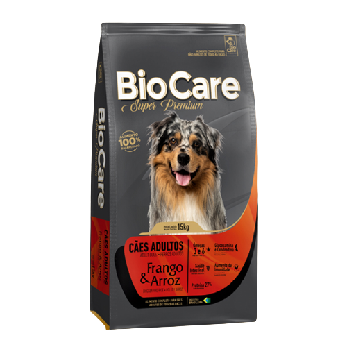 Ração BioCare Super Premium Cães Adultos Frango e Arroz