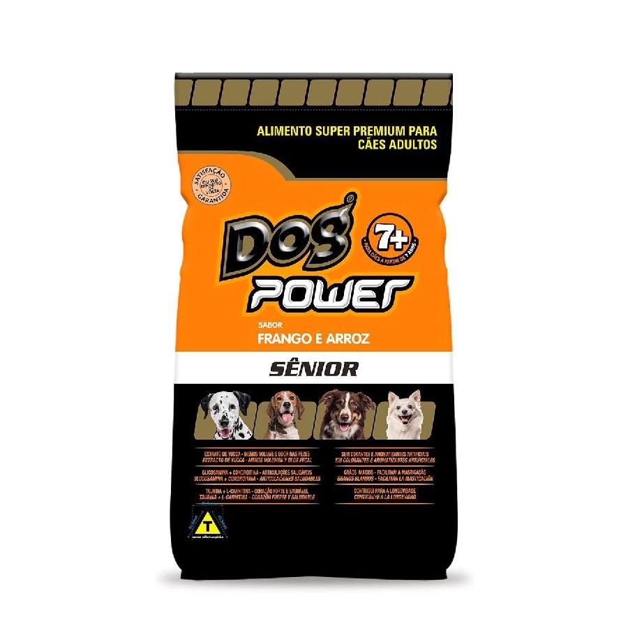 Ração Dog Power Super Premium Cães Sênior Frango e Arroz