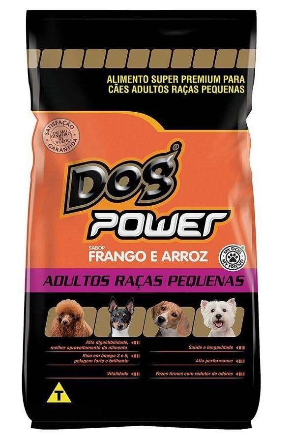 Ração Dog Power Super Premium Cães Adultos Raças Pequenas Frango e Arroz