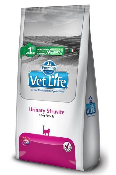 Ração Vet Life Natural Urinary Struvite para Gatos Adultos 2kg