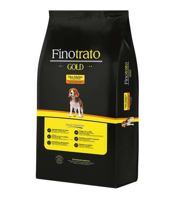 Ração Finotrato Gold Super Premium Cães Adultos Raças Médias 15kg