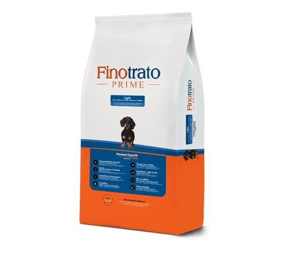 Ração Finotrato Prime Ligth Premium Especial Cães Adultos Raças Pequenas e Médias 10,1kg