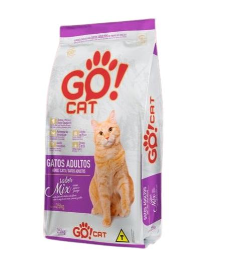 Ração Go Cat Mix Gatos Adultos 25kg