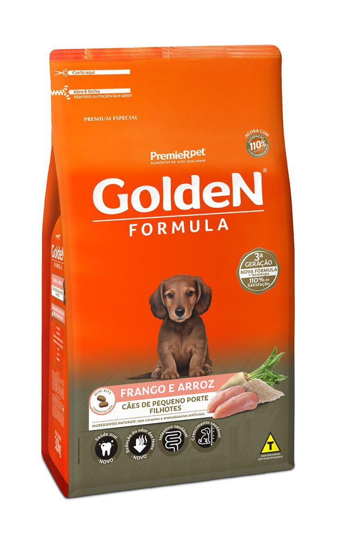 Ração Golden Premium Especial Formula Cães Filhotes Raças Pequenas Frango e Arroz