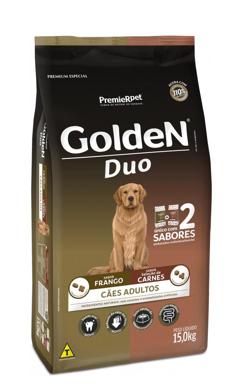 Ração Golden Premium Especial Formula Duo Cães Adultos Raças Grandes Frango e Carne 15kg