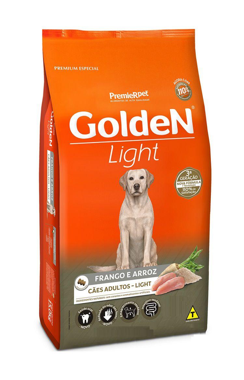 Ração Golden Formula Light Premium Especial Cães Adultos Raças Grande Frango e Arroz