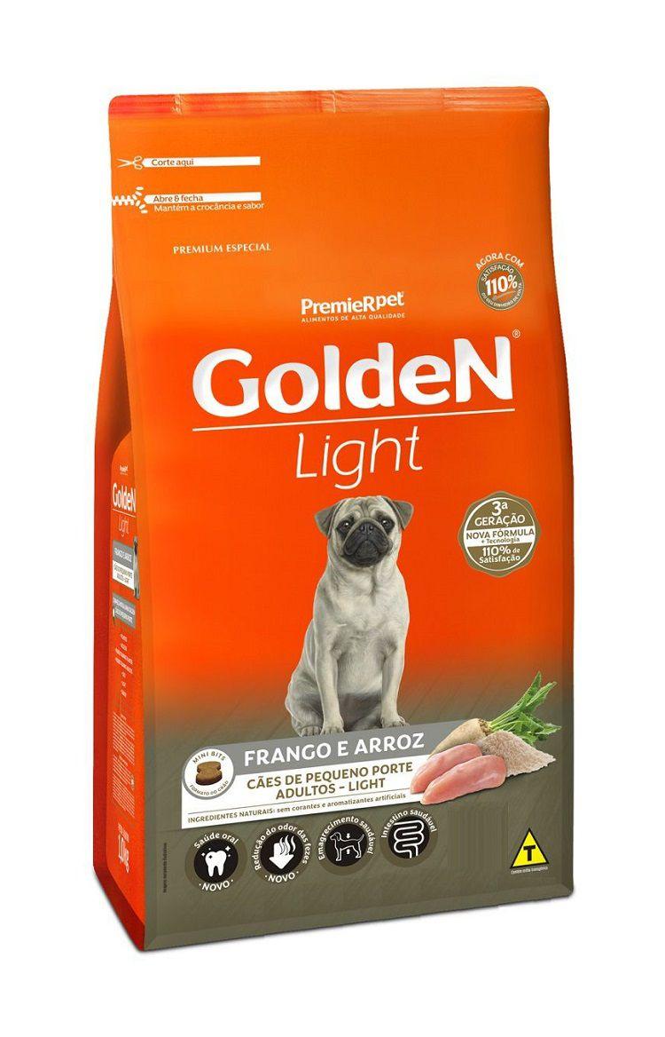 Ração Golden Premium Especial Formula Light Cães Adultos Raças Pequenas Frango e arroz