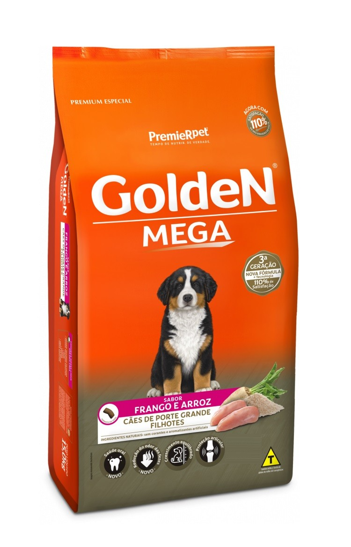 Ração Golden Premium Especial Formula Mega Cães Filhotes Frango e Arroz 15kg