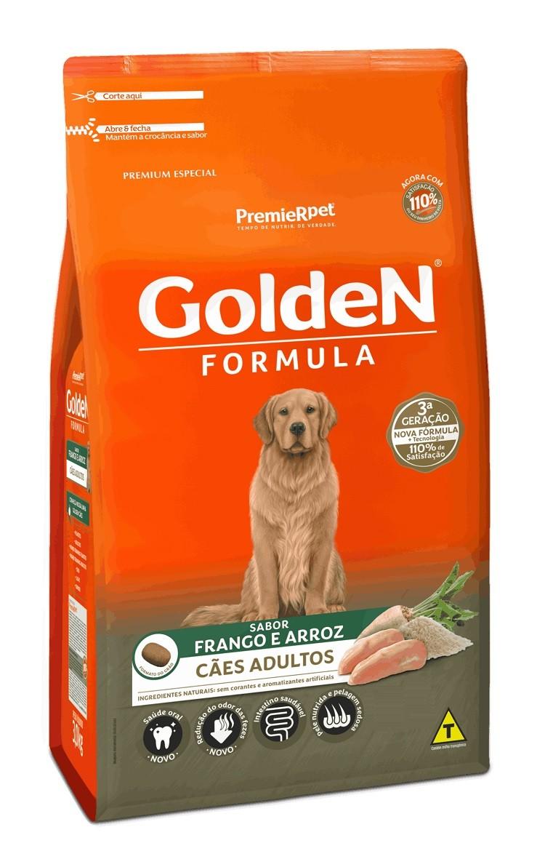 Ração Golden Premium Especial Formula Cães Adultos Raças Grandes Frango e Arroz