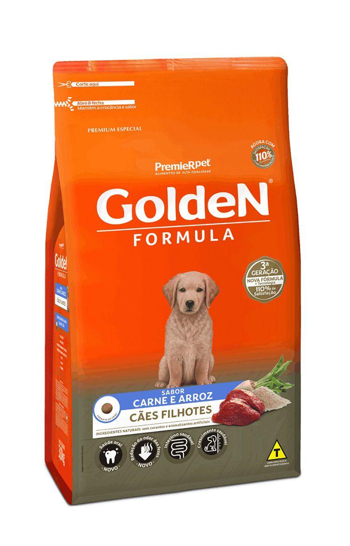 Ração Golden Formula Premium Especial Cães Filhotes Carne e Arroz
