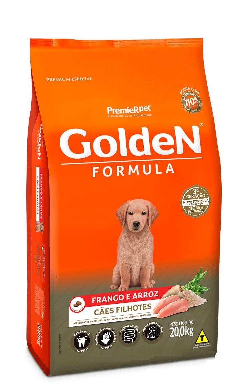Ração Golden Formula Premium Especial Cães Filhotes Frango e Arroz