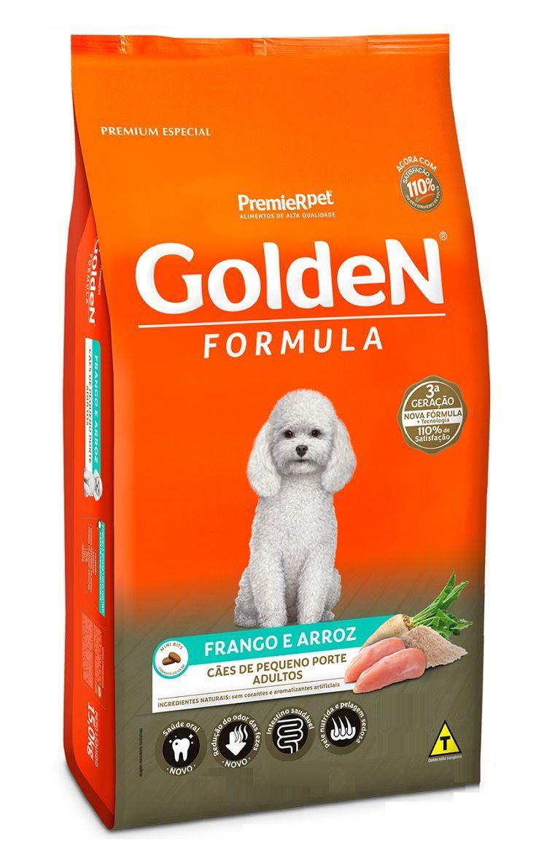 Ração Golden Formula Premium Especial Cães Adultos Raças Pequenas Frango e Arroz